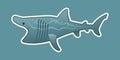 Funny basking shark illustration vector available Stock Photo