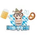 Funny bavarian party man