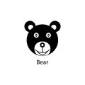 Funny bear icon. Silhouette vector icon