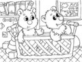 Funny bears Stock Image