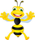 Funny bee cartoon Stock Photo