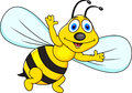 Funny bee cartoon Stock Image