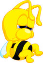 Funny bee cartoon illustration of Royalty Free Stock Image
