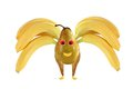 Funny bee made from bananas and pears Royalty Free Stock Photo