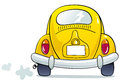Funny beetle yellow car illustration Stock Photography