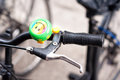 Funny bicycle bell with a smiling face Royalty Free Stock Photo