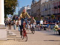 Funny bike, Lublin, Poland Royalty Free Stock Photography