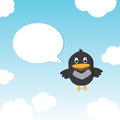 Funny Bird Twitting In The Sky Royalty Free Stock Image