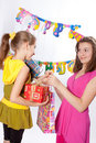 Funny birthday party Stock Photography