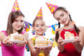 Funny birthday party Royalty Free Stock Image