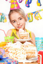Funny birthday party Royalty Free Stock Photo