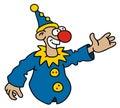 Funny blue goof Royalty Free Stock Photo