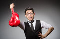 Funny boxer businessman in sport concept Royalty Free Stock Photo