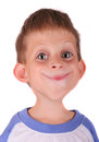 Funny boy caricature portrait of a young child Royalty Free Stock Photo