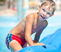Funny boy on sea Royalty Free Stock Photo