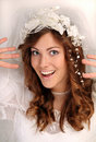 Funny bride Royalty Free Stock Photography