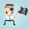 Funny business pirate cartoon illustration of a Stock Photo