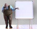 Funny Businessman, Presentation, Meeting, Illustration Royalty Free Stock Photo