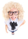 Funny businesswoman concep Stock Photo