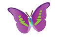 Funny butterfly a new cartoon illustration Stock Image