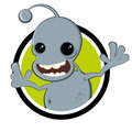 Funny cartoon alien Stock Photography