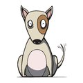 Funny cartoon bull terrier dog vector illustration this is file of eps format Royalty Free Stock Images