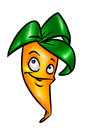 Funny cartoon carrot Stock Photography