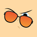 Funny cartoon character face illustration editable vector Royalty Free Stock Photography
