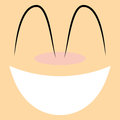 Funny cartoon character face illustration editable vector Royalty Free Stock Photo