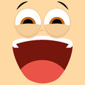 Funny cartoon character face illustration editable vector Stock Photography