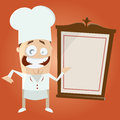 Funny cartoon chef illustration of a Royalty Free Stock Images