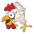 Funny cartoon chicken Stock Photo