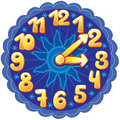 Funny cartoon clock for kids Stock Photos