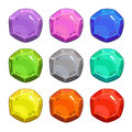 Funny cartoon colorful vector buttons Royalty Free Stock Photo