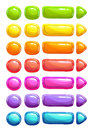 Funny cartoon colorful vector jelly buttons Royalty Free Stock Photo