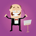 Funny cartoon conductor illustration of a Stock Image