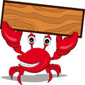 A funny cartoon crabs with board Royalty Free Stock Images