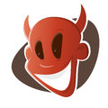 Funny cartoon devil illustration of Stock Photography