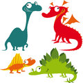 Funny Cartoon Dinosaurs Royalty Free Stock Images