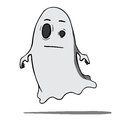 Funny cartoon ghost vector illustration this is file of eps format Stock Photo