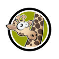 Funny cartoon giraffe Stock Photography