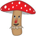 Funny cartoon mushroom Stock Photos