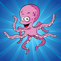 Funny cartoon octopus Stock Photography
