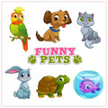 Funny cartoon pets collection