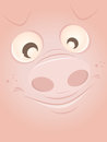Funny cartoon pig illustration of a Stock Photography