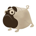Funny cartoon pug illustration of a Royalty Free Stock Photography