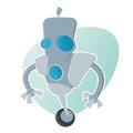 Funny cartoon robot illustration of a Royalty Free Stock Photo