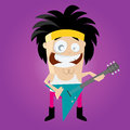 Funny cartoon rocker illustration of a glam Royalty Free Stock Image