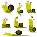 Funny cartoon snail  Stock Photos