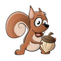 Funny cartoon squirrel illustration of a Royalty Free Stock Photo